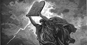 Torah in hands of Moses