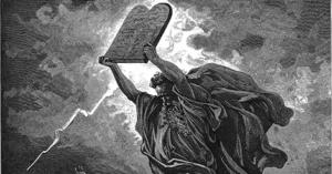 Torah in hands of Moses